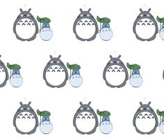 totoro fabric, wallpaper & gift wrap - Spoonflower
