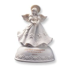 First Communion Porcelain Musical Heavens Treasure Figurine