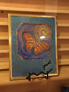 Butterfly tile in frame