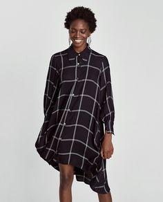 CHECK SHIRT DRESS from Zara