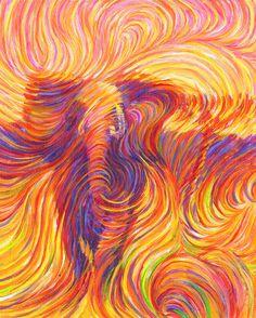 Pintura metafísica elefante - mano firmado impresión de Giclee