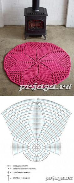 Super ideas for crochet rug zpagetti Crochet Diy, Filet Crochet, Mandala Au Crochet, Crochet Doily Rug, Crochet Carpet, Crochet Doily Patterns, Crochet Diagram, Crochet Round, Crochet Squares