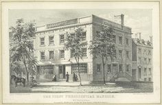 The Samuel Osgood House was the first presidential mansion, where George Washington lived for two years when New York was the nation's capital. It was demolished in George Washington, New York City Buildings, Franklin Homes, New York Architecture, Victorian Architecture, Presidential History, Big Building, City College, Brooklyn Heights