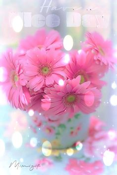 Mimi Gif: Have a Nice Day Good Morning Images Flowers, Beautiful Flowers Images, Beautiful Gif, Flower Images, Beautiful Roses, Good Morning Coffee Gif, Cute Good Morning, Good Morning World, Good Morning Wishes