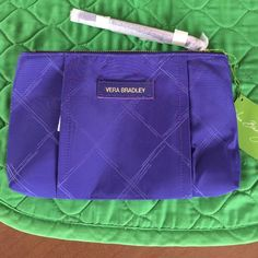 """Vera Bradley Preppy Poly Wrislet NWT in Violet Large VB Wrislet in Violet, brand new- new style and material. 10"""" by 6"""" with zipper pocket and 6 card pockets inside. Beautiful Violet poly. Vera Bradley Bags Clutches & Wristlets"""