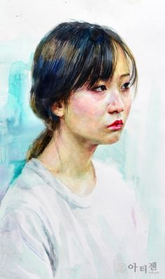 Painting & Drawing, Sculptures, Watercolor, Portrait, Drawings, Asian, Illustrations, Photos, Women