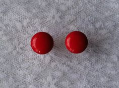 Red Button Plugs Gauges by PorcupineSpines, $18.00