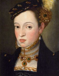 Izabela Jagiellonka (1519-1559), daughter of Zygmunt I Jagiellon and his wife Bona Sforza. She was married to Janos Zápolya and they had 1 child.