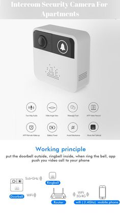 You can see who's at the door and monitor your home when you're not there with this video doorbell. The audio lets you listen and talk to anyone on your door, right from your mobile device. Mechanical Engineering, Electrical Engineering, Gadgets And Gizmos, Electronics Gadgets, Push App, Smart Ring, Ring Video Doorbell, Material Science, Hidden Camera