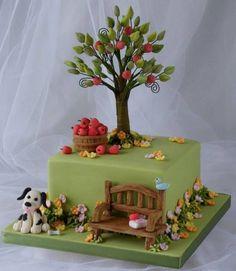 Apple tree cake