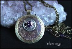 IMPERFECT WORLD  Mixed Metal Pendant Necklace with by CathyHeery, $50.00