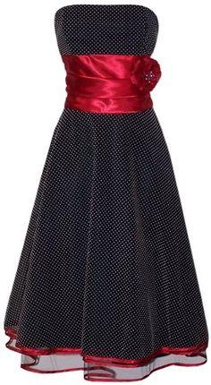 black and red bridesmaid dress