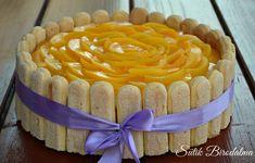 Barackos túrós charlotte torta babapiskótával - Egy szakács naplója Naan, Vanilla Cake, Nutella, Tiramisu, Mousse, Cake Decorating, Food And Drink, Pudding, Baking