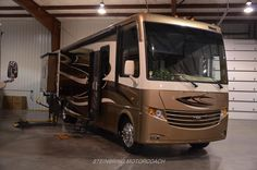 Accessible RV with wheelchair lift & step entry