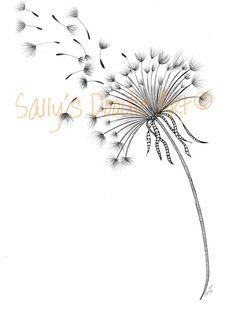 A Dandelion Wish by SallysDoodleArt on Etsy