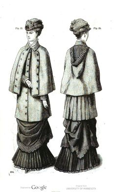 March 1881 Godeys Victorian Era Fashion, 1880s Fashion, Cloaks, Natural Forms, Bustle, Marie Antoinette, Fashion Plates, Samurai, March