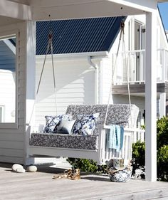 outdoor decorating ideas   Swinging Pretty   22 Outdoor Decor Ideas   Real Simple