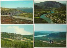 Postcard Lot x4 Vinstra Norway Peer Gynt's Farm Aerial View Gudbrandsdal | eBay