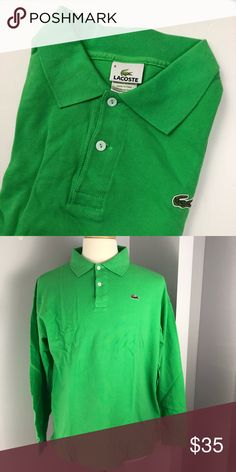 3a0aba2e459d Lacoste Men's Long-Sleeve Pique Polo Size '8' Lacoste Polo with Embroidered  Chest