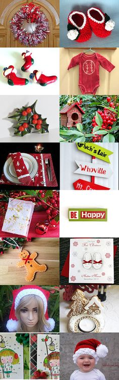 Holly Jolly Christmas  by Marcia on Etsy--Pinned with TreasuryPin.com