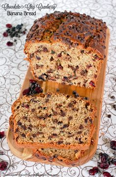 Chocolate Chip Cranberry Banana Bread; perfect with #PlugraButter www.plugra.com
