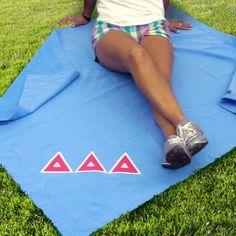 Greek Sweatshirt Blanket with Twill Letters | Sorority and Fraternity | Custom | Something Greek | #DeltaDeltaDelta #TriDelta