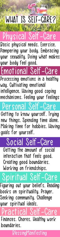 6 types of self care