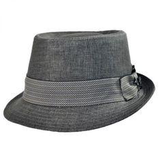 Stacy Adams Pork Pie-Chevron Band Hat Hat Shop 060d88a885c