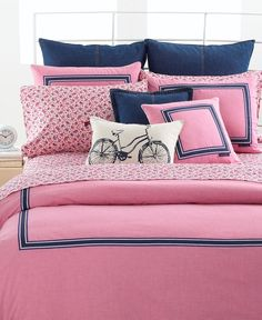 Tommy Hilfiger Bedding, Pink Oxford King Duvet Cover - Tommy Hilfiger - Bed & Bath - Macy's