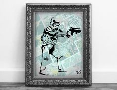 Check out this item in my Etsy shop https://www.etsy.com/ca/listing/509789327/storm-trooper-silhouette-on-star-wars
