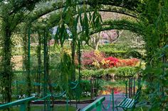 The Arbour at the edge of the Pond in Nimpheas  Claude Monet's house to Giverny