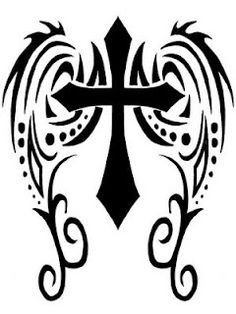 Thinking of adding some wings to my cross tribal tattoo...