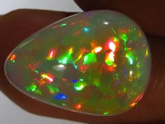 Brilliant! Ethiopian Welo Polished Harlequin Opal AAA 7.3 #303