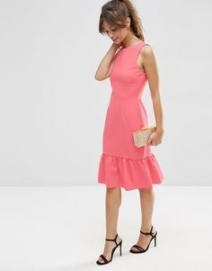 Изображение 4 из ASOS TALL Structured Frill Hem Dress