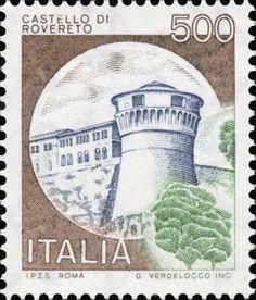 Sello: Castles- Rovereto (Italia) (Castles) Mi:IT 1522 Jesus Painting, Postage Stamps, Ephemera, Gallery, Vintage, Postcards, Palace, Stamping, Europe
