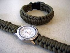 Paracord watchband with a side release buckle