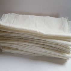 Reusable cotton flannel cloths have so many uses: wipes, family cloth, animal care, handkerchief, cleaning, dryer sheets, etc.