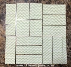 Pieces cut for One Sheet Wonder Cards - Template Included