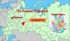 Udmurtia (Udmurt Republic) is one of 21 semi-autonomous republics of the Russian Federation (Russia)