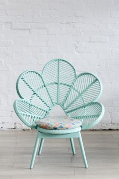 The things I would do for this chair. So gorgeous Love Chair Mint - The Family Love Tree. aqua teal turquoise mint chair furniture home decor design Interior Exterior, Interior Design, Interior Decorating, Decorating Ideas, Peacock Chair, Love Chair, Wicker Furniture, Cane Furniture, Distressed Furniture