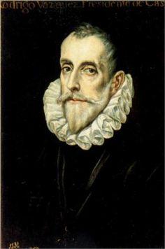 Portrait of Rodrigo Vázquez. El Greco. 1585-1590. Oil on canvas. 62 x 40 cm. Museo del Prado. Madrid.