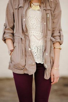 beige anorak jacket