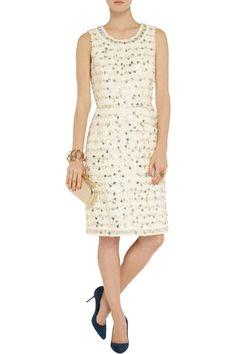 Oscar de la RentaEmbellished cotton-blend tweed dress