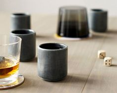 Stone whisky cups