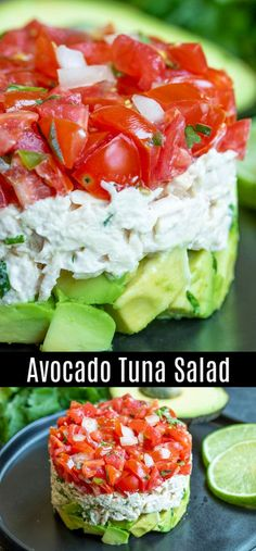 Avocado Thunfisch-Salat-Rezept - Salat IdeenThis healthy avocado tuna salad recipe is a keto and low-carb lunch or dinner recipe with creamy tuna and mayonnaise, coriander, tomatoes, and fresh avocado. It is one of my favorite avocado recipes! Avocado Tuna Salad, Fresh Avocado, Avocado Toast, Creamy Tuna Salad Recipe, Food With Avacado, Tuna Salad Recipes, Keto Tuna Salad, Coleslaw Salad, Keto Avocado