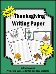 creative writing activities for thanksgiving