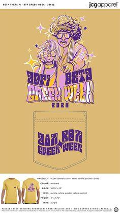 Beta Theta Pi Greek Week Shirt | Fraternity Greek Week Shirt | Greek Week Shirt #betathetapi #bon #btp #Greek #Week #Shirt #music #floral #fun Greek Week, Custom Design Shirts, Sorority And Fraternity, Color Shorts, Comfort Colors, Theta, Screen Printing, Colorful Shirts, Purple