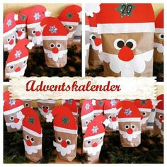 Advent Calendar DIY - the most beautiful ideas from the simplest to the most elaborate * Mission Mom, Christmas Crafts For Kids To Make, Simple Christmas, Christmas Time, Christmas Cards, Xmas, Merry Christmas, Calendrier Diy, Diy Advent Calendar, Navidad Diy