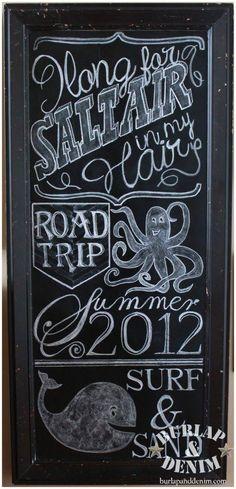 Summer Chalk Board Art - tips