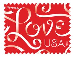 Love Ribbons, Forever® stamp Jessica Hische lettered the stamp and Art Direction by Louise Fili.I bought these in february to use for my wedding stamps Louise Fili, Jessica Hische, My Funny Valentine, Happy Valentines Day, Valentine Wishes, Valentine Ideas, Valentine Cards, All You Need Is Love, New Love